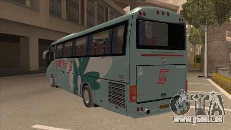 Higer KLQ6129QE - Super Fice Transport S 020 pour GTA San Andreas vue arrière