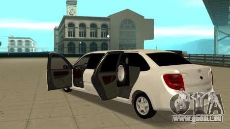 Lada Granta Limousine pour GTA San Andreas vue intérieure