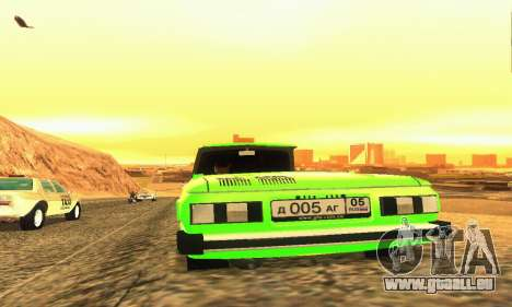 ZAZ 968 Cabriolet Tuning pour GTA San Andreas vue arrière