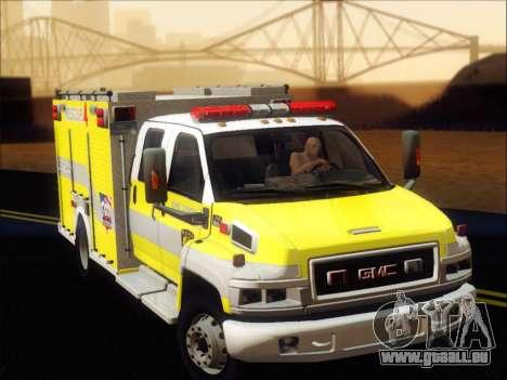 GMC C4500 Topkick BCFD Rescue 4 für GTA San Andreas linke Ansicht