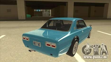 Nissan Skyline 2000 GT-R RB26DETT Black Revel pour GTA San Andreas vue de droite