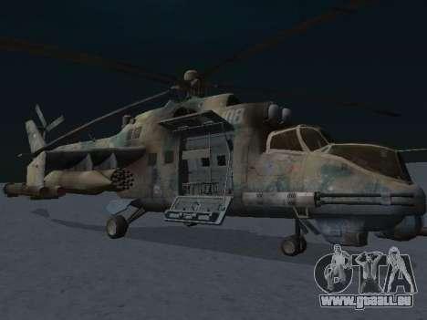 Le MI-24p pour GTA San Andreas laissé vue
