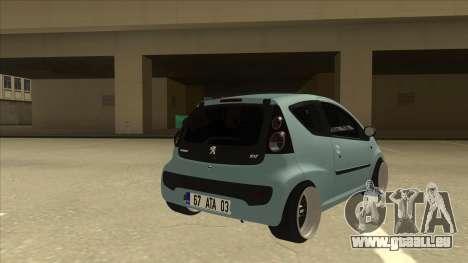 Peugeot 106 EuroLook pour GTA San Andreas vue de droite