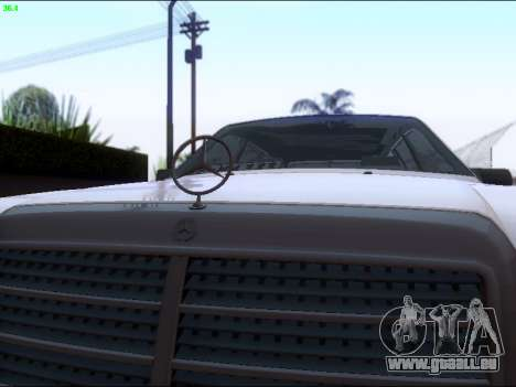 Mercedes-Benz E-Class W124 für GTA San Andreas Innenansicht