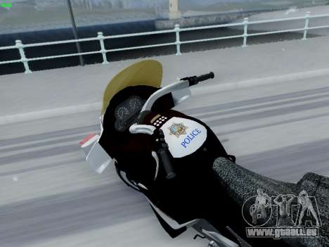 BMW K1200LT Police pour GTA San Andreas laissé vue