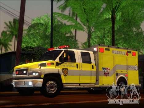 GMC C4500 Topkick BCFD Rescue 4 für GTA San Andreas Rückansicht