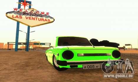 ZAZ 968 Cabriolet Tuning pour GTA San Andreas laissé vue