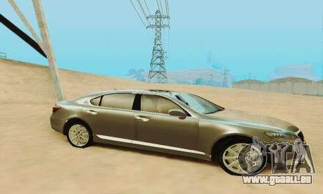 Lexus LS 600h L pour GTA San Andreas vue de dessous