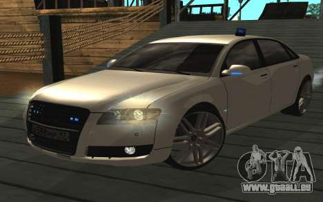 Audi A8L D3 pour GTA San Andreas sur la vue arrière gauche