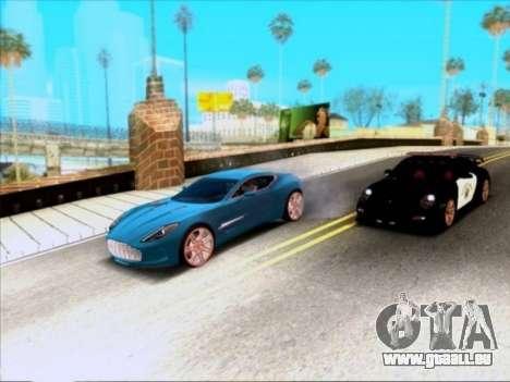 Aston Martin One-77 für GTA San Andreas Seitenansicht