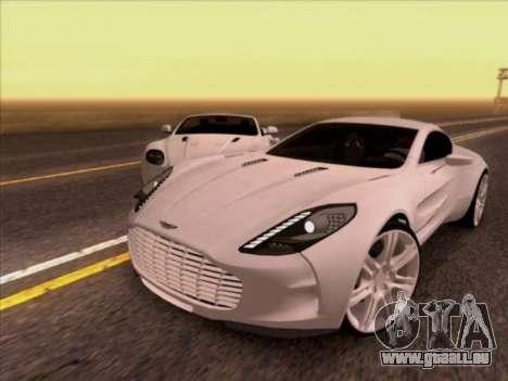 Aston Martin One-77 für GTA San Andreas linke Ansicht