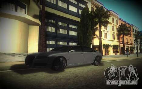 Audi A8L D3 pour GTA San Andreas vue intérieure