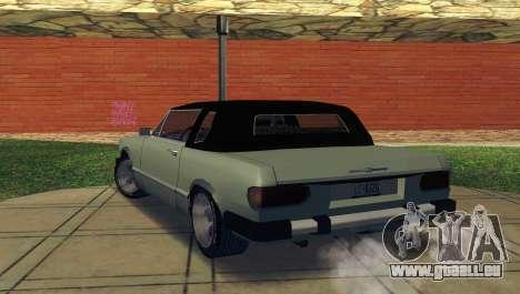 Feltzer C107 coupe pour GTA San Andreas sur la vue arrière gauche