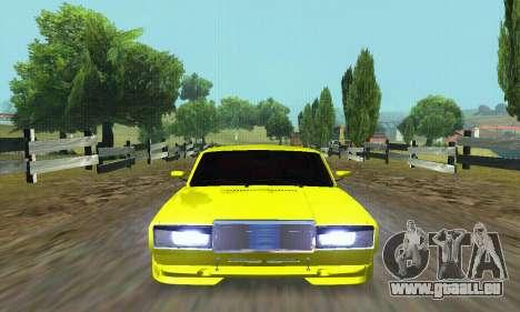 VAZ 2107 VIP für GTA San Andreas obere Ansicht