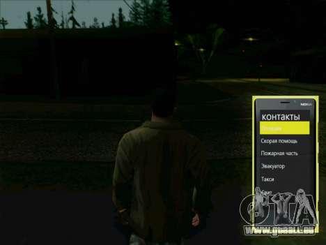 Téléphone interactif pour GTA San Andreas deuxième écran