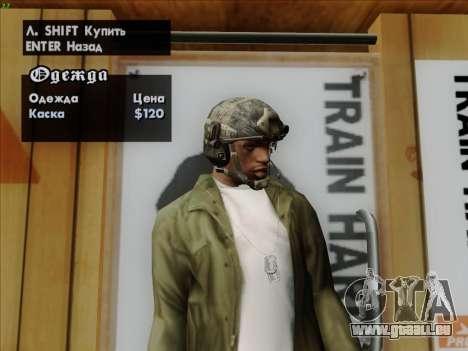 Casque de Call of Duty MW3 pour GTA San Andreas cinquième écran