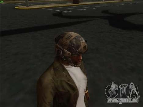 Casque de Call of Duty MW3 pour GTA San Andreas quatrième écran