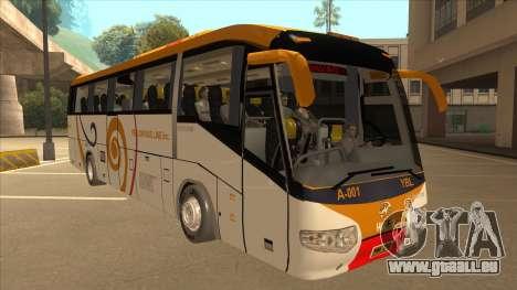 Higer KLQ6129QE - Yellow Bus Line A-001 für GTA San Andreas linke Ansicht