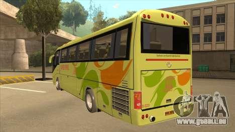 Higer KLQ6129QE - Super Five Transport S 023 pour GTA San Andreas vue arrière