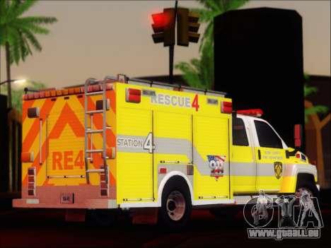 GMC C4500 Topkick BCFD Rescue 4 für GTA San Andreas rechten Ansicht