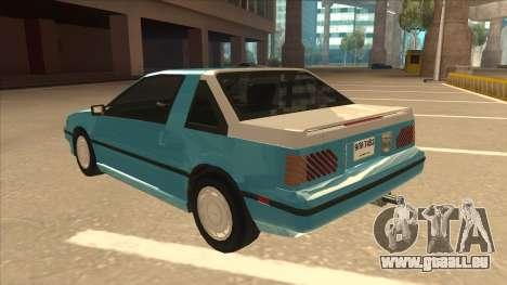 Nissan EXA L.A. Version pour GTA San Andreas vue de dessus