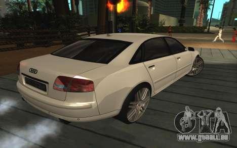 Audi A8L D3 pour GTA San Andreas vue de droite