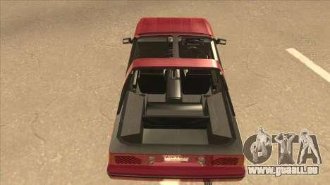 Nissan EXA L.A. Version für GTA San Andreas Innenansicht