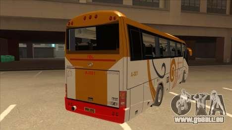 Higer KLQ6129QE - Yellow Bus Line A-001 für GTA San Andreas rechten Ansicht
