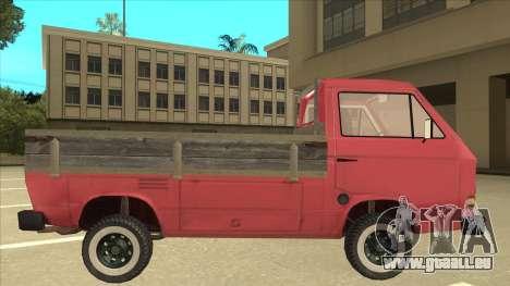 Volkswagen Transporter T3 Pritsche pour GTA San Andreas sur la vue arrière gauche