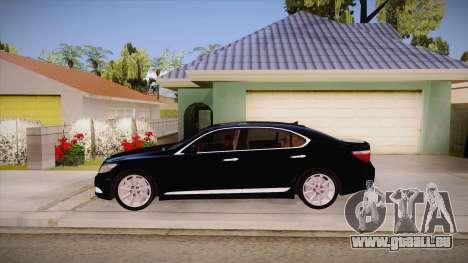 Lexus LS 600h L pour GTA San Andreas laissé vue