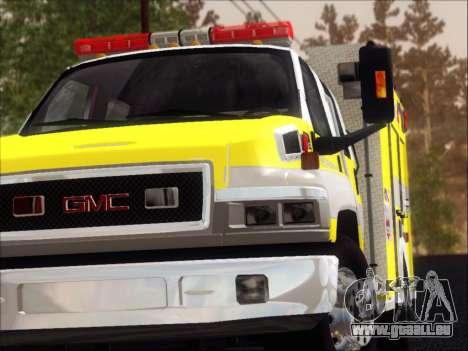 GMC C4500 Topkick BCFD Rescue 4 für GTA San Andreas Innen