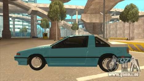 Nissan EXA L.A. Version pour GTA San Andreas vue de côté