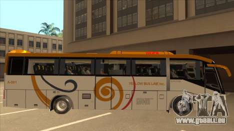 Higer KLQ6129QE - Yellow Bus Line A-001 für GTA San Andreas zurück linke Ansicht