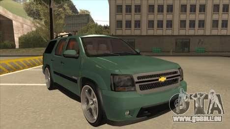 Chevrolet Tahoe Sound Car The Adiccion für GTA San Andreas linke Ansicht