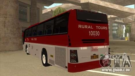 Rural Tours 10030 pour GTA San Andreas vue arrière