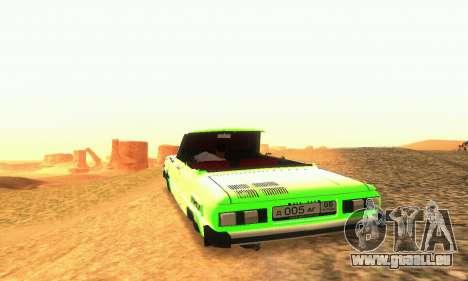 ZAZ 968 Cabriolet Tuning pour GTA San Andreas vue intérieure