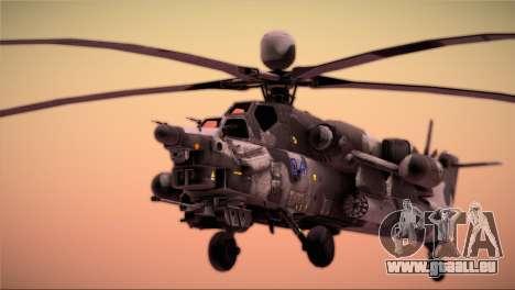 Mi-28N Havoc für GTA San Andreas rechten Ansicht