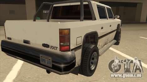 Declasse Rancher FXT pour GTA San Andreas vue de droite