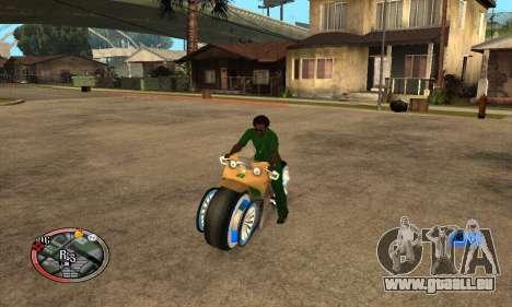Tadpole Motorcycle pour GTA San Andreas vue de droite