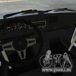 Volkswagen Golf MK1 GTI Update v1 pour GTA 4 est une vue de l'intérieur