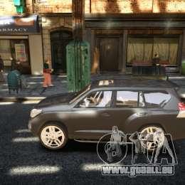 Toyota Land Cruiser Prado 150 pour GTA 4 Vue arrière de la gauche