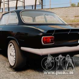 Alfa Romeo Giulia 1965 Sprint GTA Stradale pour GTA 4 Vue arrière de la gauche
