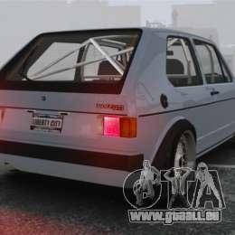 Volkswagen Golf MK1 GTI Update v1 pour GTA 4 Vue arrière de la gauche