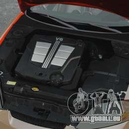 Hyundai Tiburon pour GTA 4 est une vue de l'intérieur