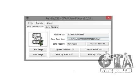 GTA V Save Editor v2.0 by Red-EyeX32 pour GTA 5
