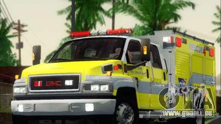 GMC C4500 Topkick BCFD Rescue 4 pour GTA San Andreas