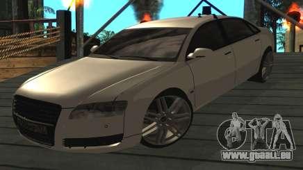 Audi A8L D3 für GTA San Andreas