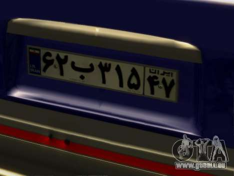 Kia Pride Hatchback für GTA San Andreas Rückansicht