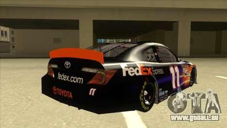 Toyota Camry NASCAR No. 11 FedEx Express für GTA San Andreas rechten Ansicht