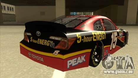 Toyota Camry NASCAR No. 15 5-hour Energy für GTA San Andreas rechten Ansicht